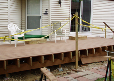 Deck almost finished